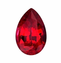 Pear Ruby Lab Created Synthetic Loose Stones