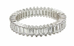 Pincera Prong Set Single Baguette Cubic Zirconia Eternity Band