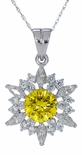 Pizzazz 2 Carat Round Cubic Zirconia Marquise and Round Pendant