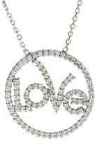 Planet Circle of Love Pave Set Round Cubic Zirconia Pendant