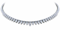 Portia Cubic Zirconia Pear Shape Statement Tennis Necklace