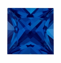 Princess Cut Blue Sapphire Lab Created Synthetic Loose Stones