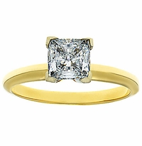 Princess Cut Cubic Zirconia Classic Solitaire Engagement Rings