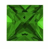 Princess Cut Emerald Lab Created Simulated Loose Stones