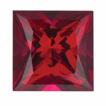 Princess Cut Ruby Lab Created Synthetic Loose Stones