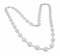Rialto .25 Carat Each Round Bezel Set Cubic Zirconia Necklace