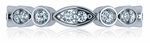 Rochelle Pave Round Bezel Set Marquise Shaped Cubic Zirconia Eternity Band