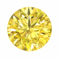 Round Canary Yellow Diamond Look Cubic Zirconia Loose Stones