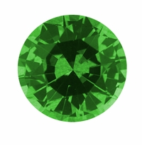 Round Green Emerald Lab Created Simulated Man Made Loose Stones