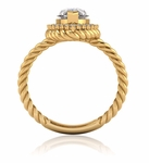 Saturnia 2 Carat Marquise Cubic Zirconia Twisted Rope Halo Split Shank Engagement Ring