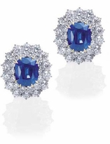 Selena 4 Carat Oval Lab Created Sapphire Cubic Zirconia Round Halo Cluster Earrings