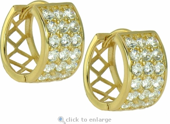 Seneca Cubic Zirconia Hoop Earrings