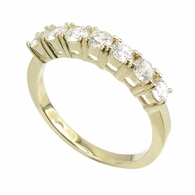 Sevan Basket Prong Set Cubic Zirconia Round Anniversary Band