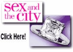 Sex and the City Inspiration Step Cut Square Cubic Zirconia Cathedral Solitaire Engagement Ring Series