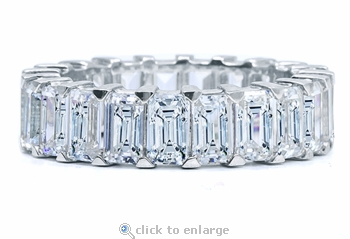 Sinclair .50 Carat Each Emerald Cut Cubic Zirconia Shared Prong Eternity Band