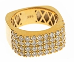 Skyler Round Cubic Zirconia European Squared Wide Band