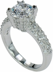 Skyra 2 Carat Round Cubic Zirconia Micro Pave Solitaire Engagement Ring