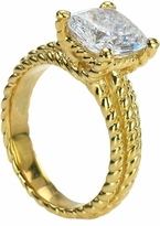 Skyros 4 Carat Cushion Cut Cubic Zirconia Twisted Rope Style Solitaire Engagement Ring