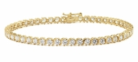 "Small ""S"" Link Round Cubic Zirconia Tennis Bracelet"