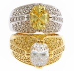 St. Andrews 2.5 Carat Oval Cubic Zirconia Domed Pave Ring