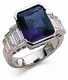 Stairway to Heaven 4 Carat Emerald Cut Lab Created Sapphire Graduated Baguette Cubic Zirconia Engagement Ring