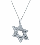 Star of David Pave Set Cubic Zirconia Pendant