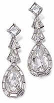 Svenson 5 Carat Pear Cubic Zirconia 1.5 Carat Asscher Drop Earrings