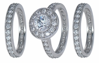 The Bella Eternity Three Ring Bridal Set