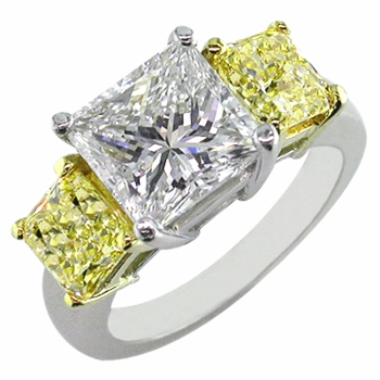 Three Stone Cubic Zirconia Anniversary Engagement Rings