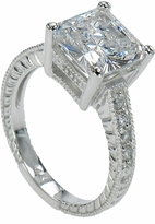 Tiburon 4 Carat Princess Cut Square Cubic Zirconia Antique Estate Style Solitaire