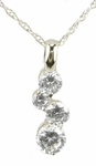 Tiny Bubbles Cubic Zirconia Round Floating Drop Pendant