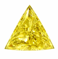 Trillion Triangle Canary Yellow Diamond Look Cubic Zirconia Loose Stones