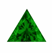 Trillion Triangle Emerald Lab Created Simulated Loose Stones
