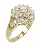 Twinkle Round Cubic Zirconia Cluster Ring