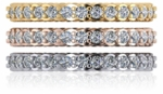 Twisted Rope Pave Set Cubic Zirconia Eternity Wedding Band