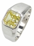 Valentino Bezel Set Princess Cut Mens Ring