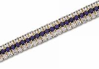 Vanni Three Row Demi Cuff Cubic Zirconia Bracelet