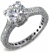 Vendome 2.5 Carat Round Cubic Zirconia Eternity Solitaire Engagement Ring