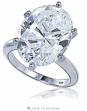 Viceroy 9 Carat Oval Cubic Zirconia Classic Solitaire Engagement Ring