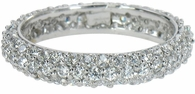 Waltham Pave Set Round Cubic Zirconia Domed Eternity Band