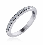 Wilshire 2 Carat Round Cathedral Pave Cubic Zirconia Wedding Set