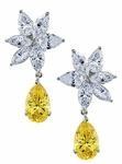 Windsor 4 Carat Pear Cubic Zirconia Marquise Cluster Drop Earrings
