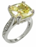 Winston Cathedral Cushion Cut Pave Split Prong Solitaire Engagement Ring Series