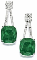 Zennia 18 Carat Cushion Cut Square Cubic Zirconia Channel Set Baguette Drop Earrings