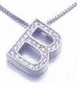 Ziamond Initial Pave Set Round Cubic Zirconia Pendant - Small