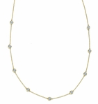 Ziamonds by the Yard 9 Stone 20 Inch Necklace