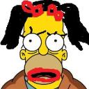homera simpson..notare bene la A's avatar