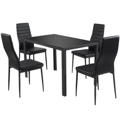 Costway 5 Piece Iron Outdoor Kitchen Dining Set Yahoo Shopping