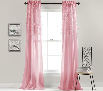 Lush Decor Riley Window Curtain Panel Pink 54x84 Yahoo Shopping