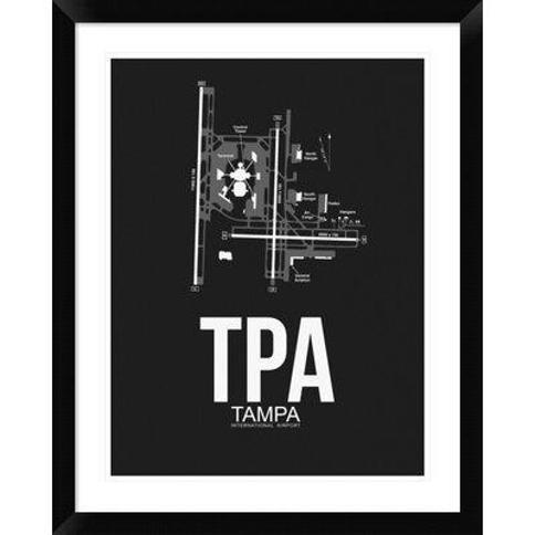 "Naxart 'TPA Tampa Airport' Framed Graphic Art Print in Black DPF-454511-313 Size: 30"" H x 24"" W x 1.5"" D"
